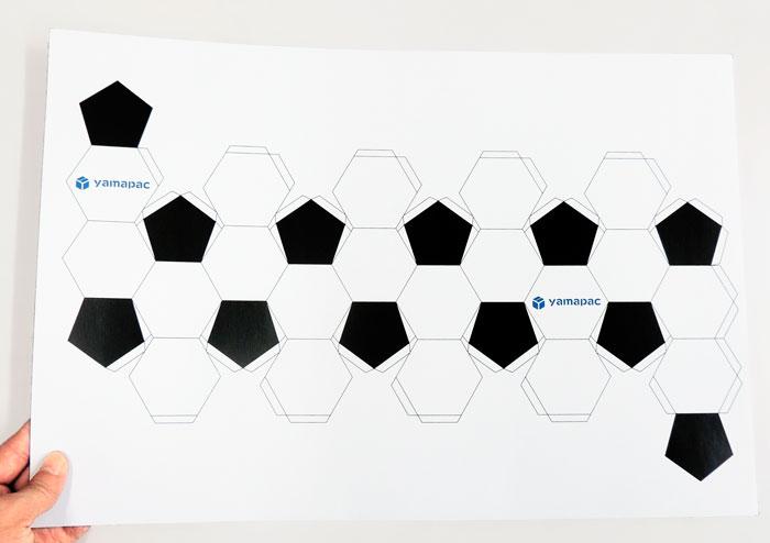 紙製サッカーボールの展開図